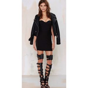 Nasty Gal Scale Up over the knee buckle boots
